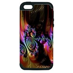 Fractal Colorful Background Apple Iphone 5 Hardshell Case (pc+silicone)
