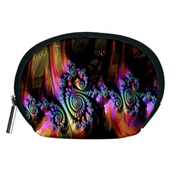 Fractal Colorful Background Accessory Pouches (medium)