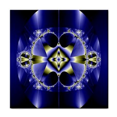 Fractal Fantasy Blue Beauty Tile Coasters