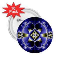 Fractal Fantasy Blue Beauty 2 25  Buttons (10 Pack)