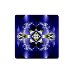 Fractal Fantasy Blue Beauty Square Magnet