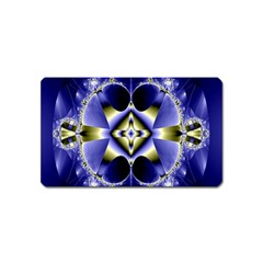 Fractal Fantasy Blue Beauty Magnet (Name Card) by Nexatart