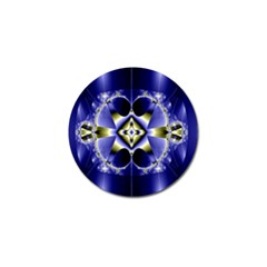 Fractal Fantasy Blue Beauty Golf Ball Marker (4 Pack) by Nexatart