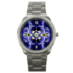 Fractal Fantasy Blue Beauty Sport Metal Watch