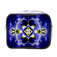 Fractal Fantasy Blue Beauty Mini Toiletries Bags by Nexatart