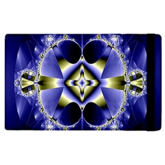 Fractal Fantasy Blue Beauty Apple Ipad 3/4 Flip Case