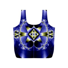 Fractal Fantasy Blue Beauty Full Print Recycle Bags (s)