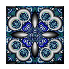 Fractal Cathedral Pattern Mosaic Tile Coasters