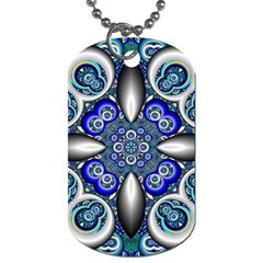 Fractal Cathedral Pattern Mosaic Dog Tag (one Side)