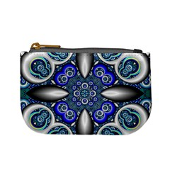 Fractal Cathedral Pattern Mosaic Mini Coin Purses