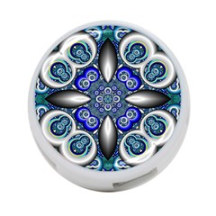 Fractal Cathedral Pattern Mosaic 4 Port Usb Hub (two Sides)  by Nexatart