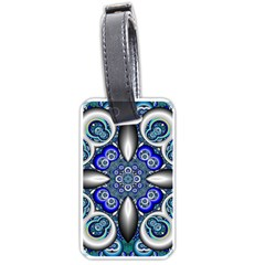 Fractal Cathedral Pattern Mosaic Luggage Tags (one Side)  by Nexatart