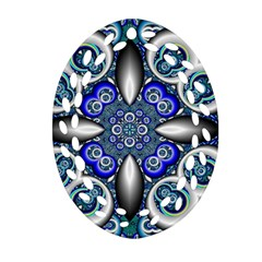 Fractal Cathedral Pattern Mosaic Ornament (oval Filigree)