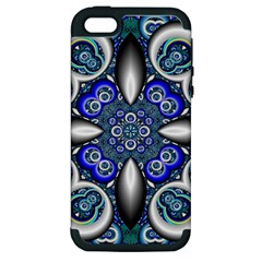 Fractal Cathedral Pattern Mosaic Apple Iphone 5 Hardshell Case (pc+silicone) by Nexatart