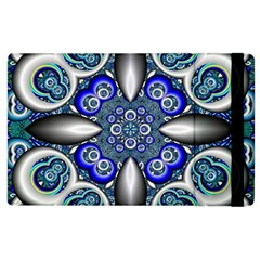 Fractal Cathedral Pattern Mosaic Apple Ipad 2 Flip Case