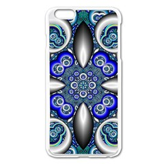 Fractal Cathedral Pattern Mosaic Apple Iphone 6 Plus/6s Plus Enamel White Case by Nexatart