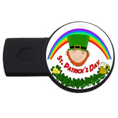 St  Patrick Usb Flash Drive Round (2 Gb) by Valentinaart