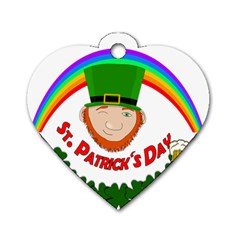 St  Patrick Dog Tag Heart (one Side) by Valentinaart
