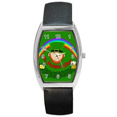 St  Patrick s Day Barrel Style Metal Watch by Valentinaart