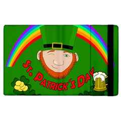 St  Patrick s Day Apple Ipad 3/4 Flip Case by Valentinaart