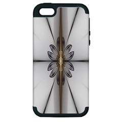 Fractal Fleur Elegance Flower Apple Iphone 5 Hardshell Case (pc+silicone)