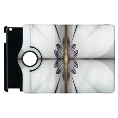Fractal Fleur Elegance Flower Apple Ipad 3/4 Flip 360 Case by Nexatart