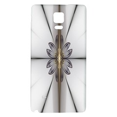Fractal Fleur Elegance Flower Galaxy Note 4 Back Case