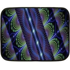 Fractal Blue Lines Colorful Double Sided Fleece Blanket (mini)