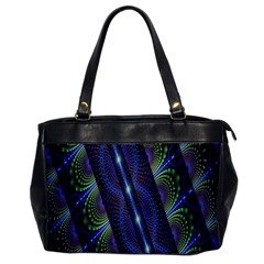 Fractal Blue Lines Colorful Office Handbags by Nexatart