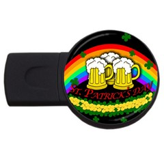 Beer Mugs Usb Flash Drive Round (2 Gb) by Valentinaart