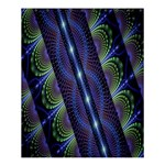Fractal Blue Lines Colorful Shower Curtain 60  x 72  (Medium)  54.25 x65.71 Curtain