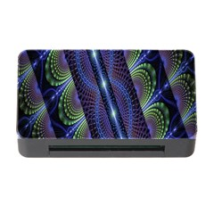Fractal Blue Lines Colorful Memory Card Reader With Cf by Nexatart