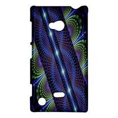 Fractal Blue Lines Colorful Nokia Lumia 720