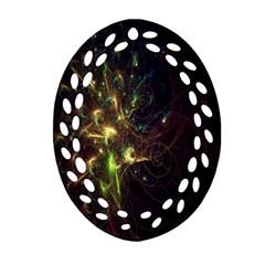 Fractal Flame Light Energy Ornament (oval Filigree)
