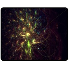 Fractal Flame Light Energy Double Sided Fleece Blanket (medium)