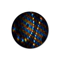 Fractal Digital Art Rubber Round Coaster (4 Pack)