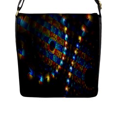 Fractal Digital Art Flap Messenger Bag (l)  by Nexatart