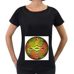 Fractals Ball About Abstract Women s Loose-Fit T-Shirt (Black) by Nexatart