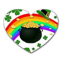 Good Luck Heart Mousepads by Valentinaart