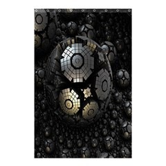 Fractal Sphere Steel 3d Structures Shower Curtain 48  X 72  (small)  by Nexatart