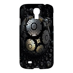 Fractal Sphere Steel 3d Structures Samsung Galaxy S4 I9500/i9505 Hardshell Case by Nexatart