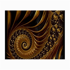 Fractal Spiral Endless Mathematics Small Glasses Cloth (2 Side)