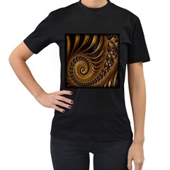 Fractal Spiral Endless Mathematics Women s T Shirt (black)