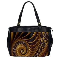 Fractal Spiral Endless Mathematics Office Handbags (2 Sides)  by Nexatart