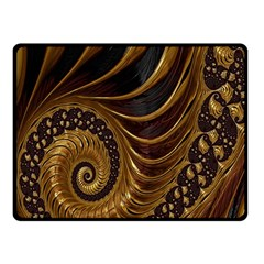 Fractal Spiral Endless Mathematics Fleece Blanket (small) by Nexatart