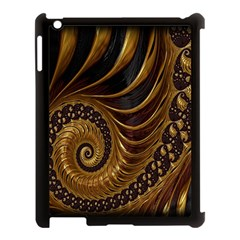 Fractal Spiral Endless Mathematics Apple Ipad 3/4 Case (black) by Nexatart