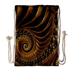 Fractal Spiral Endless Mathematics Drawstring Bag (large)