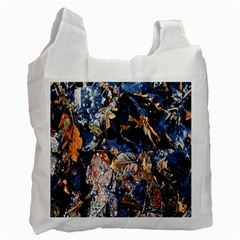 Frost Leaves Winter Park Morning Recycle Bag (two Side)  by Nexatart