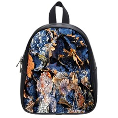 Frost Leaves Winter Park Morning School Bags (small)  by Nexatart