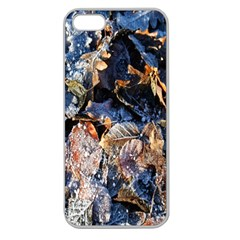 Frost Leaves Winter Park Morning Apple Seamless Iphone 5 Case (clear) by Nexatart